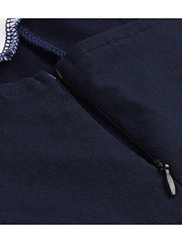 Senza Senza Estate Casf Delle Vestito Bowknot Maniche Donne Spalline Bel Di Blu Scuro Sveglio Z1nxHSIq