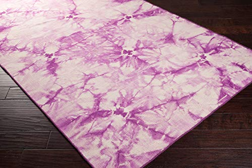 Surya Bohemia BHM-1003 Transitional Hand Woven 100% Wool Light Orchid 2' x 3' Global Accent Rug
