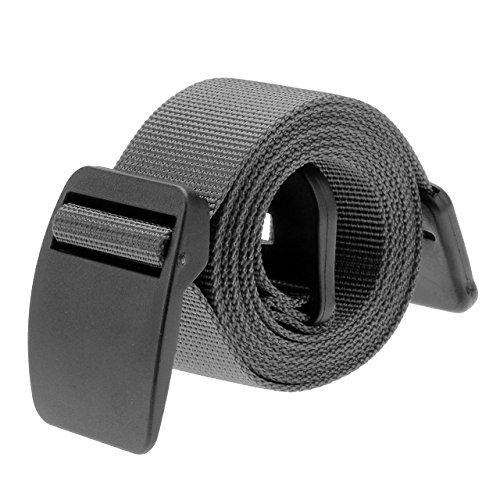 Ayliss Military Light Weight Cottn Nylon Belt Hypoallergenic Plastic Buckle (One Size, Dark Grey)