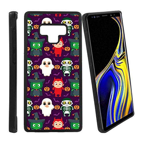 [Funny Kids in Halloween Costume] Compatible with Samsung Galaxy Note9, Non-Slip Soft Rubber Side & Hard Back Case Cover Shell Skin ()