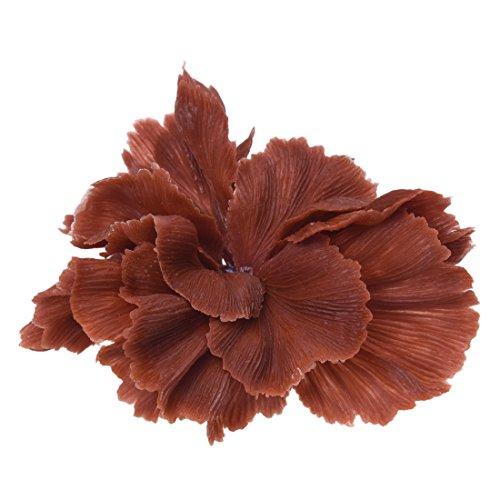 Artificial coral - TOOGOO(R)Coffee plastic artificial coral plant Deco for Aquarium fish