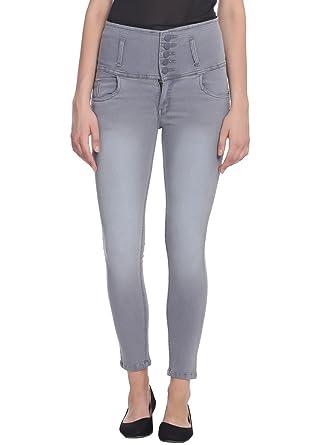 Broadstar Women Denim Grey Jeans Women's Jeans & Jeggings at amazon