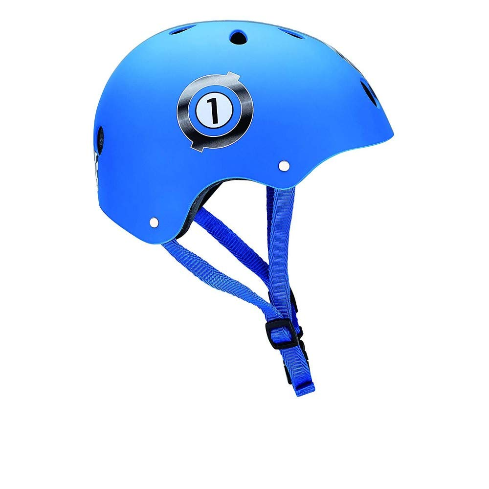 Globber Junior Print Racing Casque de Protection Garçon, Bleu, XXS (48-51cm) GLOOF|#Globber PKGB0000504-001
