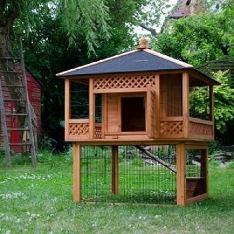 Pagoda conejera Outback con jaula para conejos: Amazon.es: Productos para mascotas
