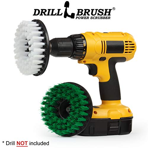 Drill Brush - Kitchen Tools - Grout Cleaner - Large Spin Brush Kit - Clean Stove, Oven Rack, Sink, Tile, Counter, Cabinets, Floors - Glass Cleaner - Upholstery, Leather, Fabric, Vinyl - Carpet Cleaner