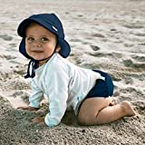 i play. by green sprouts Baby Sun Hat, Navy, 9-18