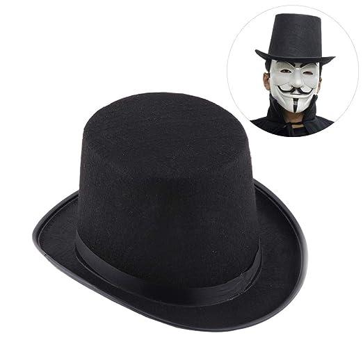 Sahalo Sombrero de Copa Mago Sombrero de Fieltro Gorras mágicas ...