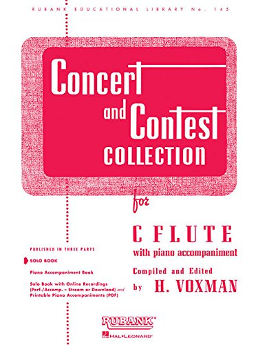 Concert And Contest Collections C Flute Solo Part Only (Rubank Educational Library)