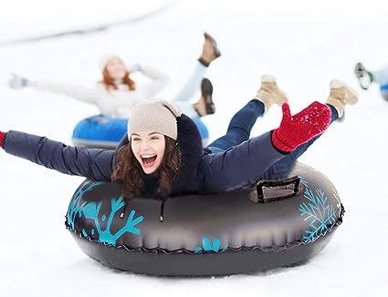 Skischlitten Schlittenr/öhre Schneereifen Bob Schlitten Rodel Schneerutscher f/ür Ski Schnee Wintersport Alecony Aufblasbarer Schlitten A Verdicken Aufblasbare Snow Tube f/ür Kinder Erwachsene 47