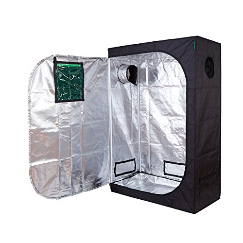 TopoGrow Multi Sized Grow tent 48''x24''x72'' W/Green Observation Window 600D High Reflective New W/Metal Corners Waterproof by TopoGrow