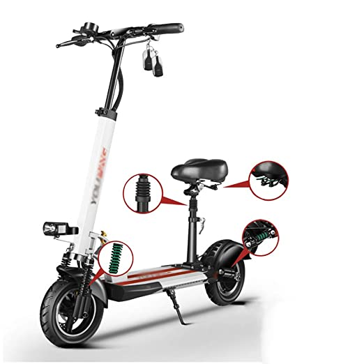 JIAWE Scooter eléctrico, Plegable, 48V / 500W con Asiento ...