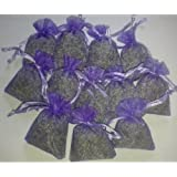 15 Small Organza Bags Filled With Dried Lavender Flowers From Soothing Ideas (You can choose the colour of your bags if you wish)