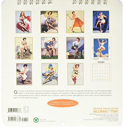 Pin-Up Girls - 2016 Mini Calendar 7 x 7in Photo #3