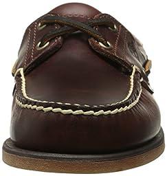 Timberland Men\'s Classic 2-Eye Boat Shoe, Rootbeer/Brown, 15 M