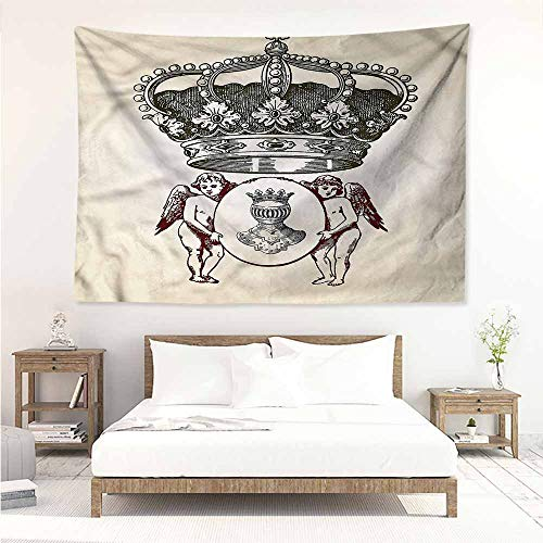 Sunnyhome Tapestry Wall Hanging,Medieval Royal Antique Crest Symbol,Living Room Background Decorative -