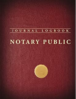 Notary Public Journal Logbook