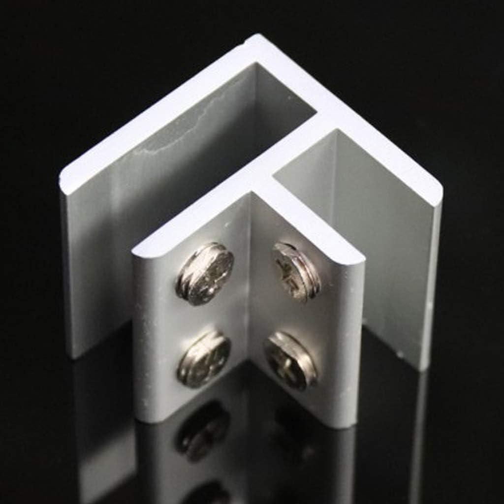 LOVIVER 2pcs Pinces /à Verre Verre Dril Angle Pince Balustrade Support Balustrade Fit Verre 8-12mm