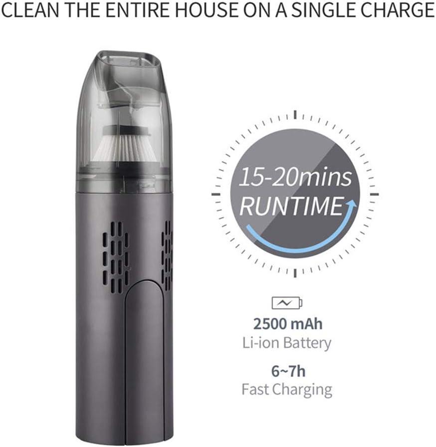 DXFK.AM sans Fil Aspirateur Portable Rechargeable USB Mini Aspirateur pour La Voiture Accueil Canapé Poils d\'animaux,Noir Black