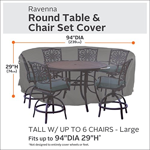Classic Accessories Ravenna Tall Round Patio Table