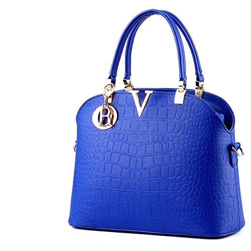 (G-AVERIL) Borsa A Tracolla Borse Donna Borsa Sacchetto In Pelle Cartella Sacchetti Blu
