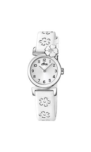 Lotus Reloj Análogo clásico para niñas de Cuarzo con Correa en Cuero 18174/1: LOTUS: Amazon.es: Relojes