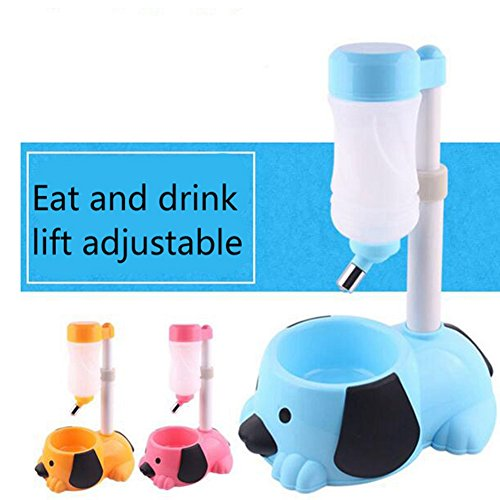 WW Pet Automatic Waterer Hanging Water Bottle Liftable Cat Dog Standing Water Dispenser Automatically Feeding Water Height Adjustable,Orange by CW&T (Image #5)
