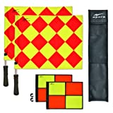 AGORA Pro Line Duo Premium Rotating Soccer Referee Flags with Case, Red/Yellow