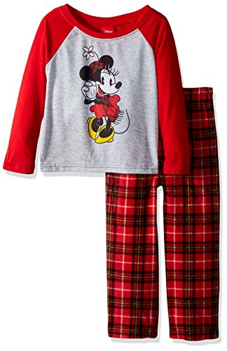 Disney Toddler Girls' 2-Piece Set, Plaid Red, 4T