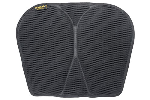 (SKWOOSH Classic Kayak Paddling Gel Seat Pad with AirFlo Breathable and Cushioning Mesh | Made in USA)