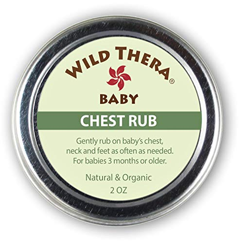 Wild Thera Baby Chest Rub Balm. Herbal Organic solution for sniffles, congestion, sinus, allergies & runny nose. Gentle relief with Eucalyptus, Ginger, Thyme, Echinacea and more help baby sleep. ()