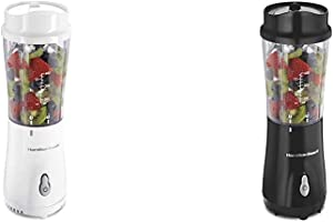 Hamilton Beach Personal Blender for Shakes and Smoothies with 14oz Travel Cup and Lid & Personal Blender for Shakes and Smoothies with 14oz Travel Cup and Lid