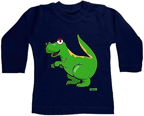 Hariz Tyrannosaurus T-Rex - Camiseta de manga larga para bebé, diseño de dinosaurios azul Azul Oscuro Talla:3-6 meses: Amazon.es: Bebé