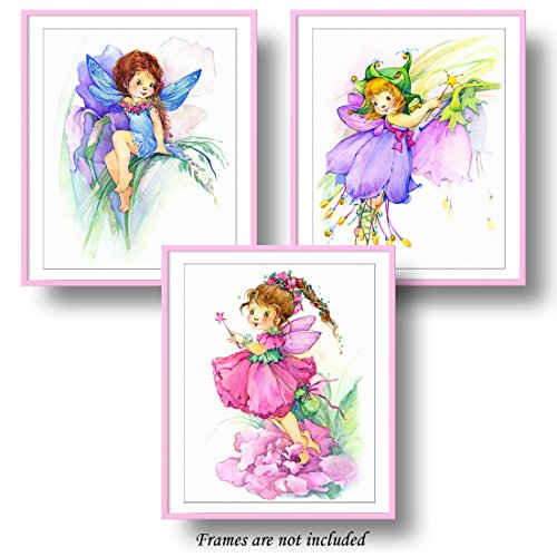 Fairy Fine Art - 7Dots Art. Flower fairy. Watercolor Art Print, poster 8