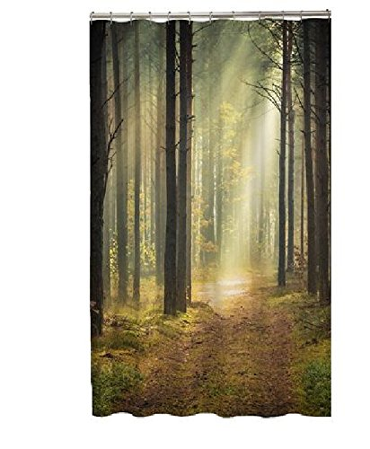 Tropical Summer Beach Fabric Shower Curtain (forest)
