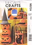 HALLOWEEN ITEMS: Package includes patterns and instructions for bat ornament A, four 8 1/2-Inch by 4 1/2-Inch, to decorate purchased wreath or branches; small pumpkin B, 8-Inch; medium pumpkin C, 11 1/2-Inch; large pumpkin D, 13-Inch; stack of pumpki...