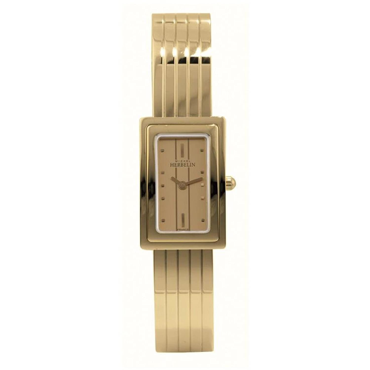 MICHEL HERBELIN DAMEN-ARMBANDUHR BATTERIE ZIFFERBLATT GOLD ANALOG 17092-BP13