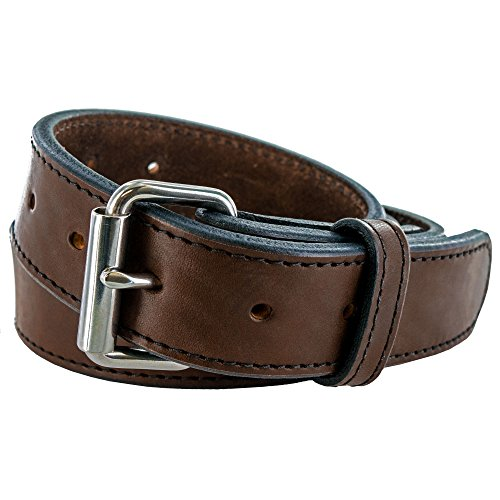 """Hanks AMA2755 Extreme Gun Belt – 1.5"""" - Brown - Size 58 (Hanks Clothing)"""