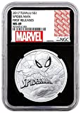 2017 TV 1 oz Silver Tuvalu Marvel Series 1 Dollar MS69 NGC