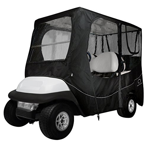 Classic Accessories Fairway Golf Cart Deluxe Enclosure, Black, Short Roof -