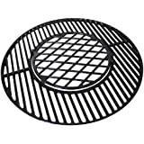 Hongso PCH835 Gourmet BBQ System Porcelain Coated Cast Iron Grill Grate for Weber Original Kettle Premium 22 Inch Charcoal Grill, 22 inch Weber Performer Premium & Deluxe Charcoal Grill, 22'' Smokers