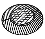 Hongso 8835 22 inch Polished Porcelain Coated Cast Iron Grill Grates for Weber 22.5 inches One-Touch Silver, Bar-B-Kettle, Master-Touch and One-Touch,PCH835