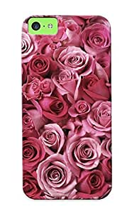 Awesome DsBnLIm1500uQcPP Eatcooment Defender Tpu Hard Case Cover For Iphone 5c- Pink Roses by lolosakes