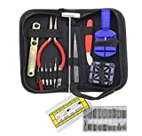 Professional Watch Repair Tool Set - 286PCS Watch Link Pin Stainless Steel Tweezers Removal Adjustment Durable Tools Set with Portable Black Carrying Case