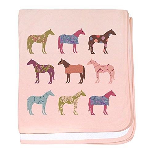 - CafePress - Colorful Horse Pattern - Baby Blanket, Super Soft Newborn Swaddle