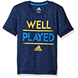 adidas Big Boys' Active Tee Shirt, Navy Heather, L