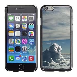 Cubierta de la caja de protección la piel dura para el Apple iPhone 6 (4.7) - sky clouds lion blue white god majestic