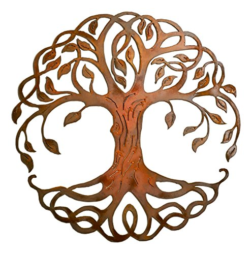 Elizabeth Keith Designs Celtic Tree Of Life, Recycled Metal, Rust Color