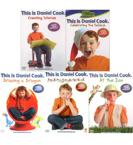 This Is Daniel Cook (5 Pack) At The Zoo , Celebrating The Holidays, Creating Stories, Drawing a Dragon, Making Gingerbread