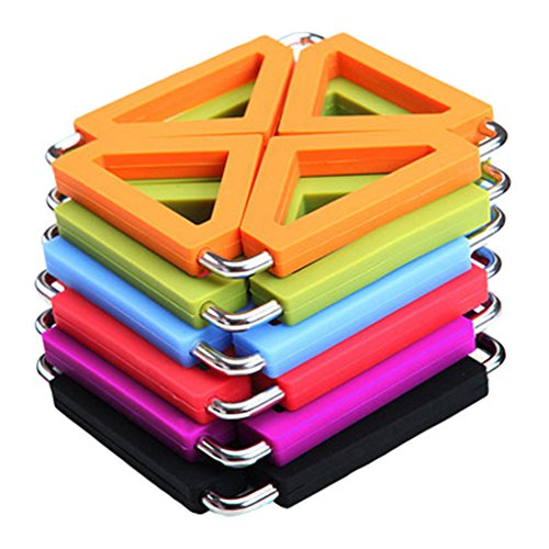 Set of 6 Multifunctional Pot Holder Hot Pad Trivet Mat Cup Mat Coaster