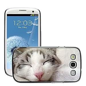 Super Stella Slim PC Hard Case Cover Skin Armor Shell Protection // M00147801 Cat Sleeping Cat Pets // Samsung Galaxy S3 S III SIII i9300
